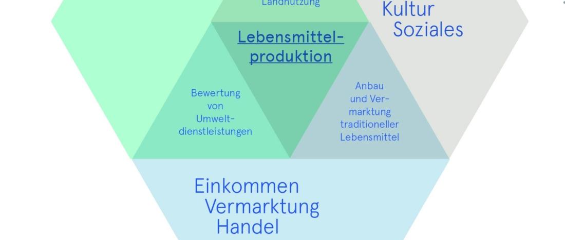 Multifunktionalität Landwirtschaft, Bio 3.0, #biodreinull, Wissensvisualisierung, FiBL, dform, SCR