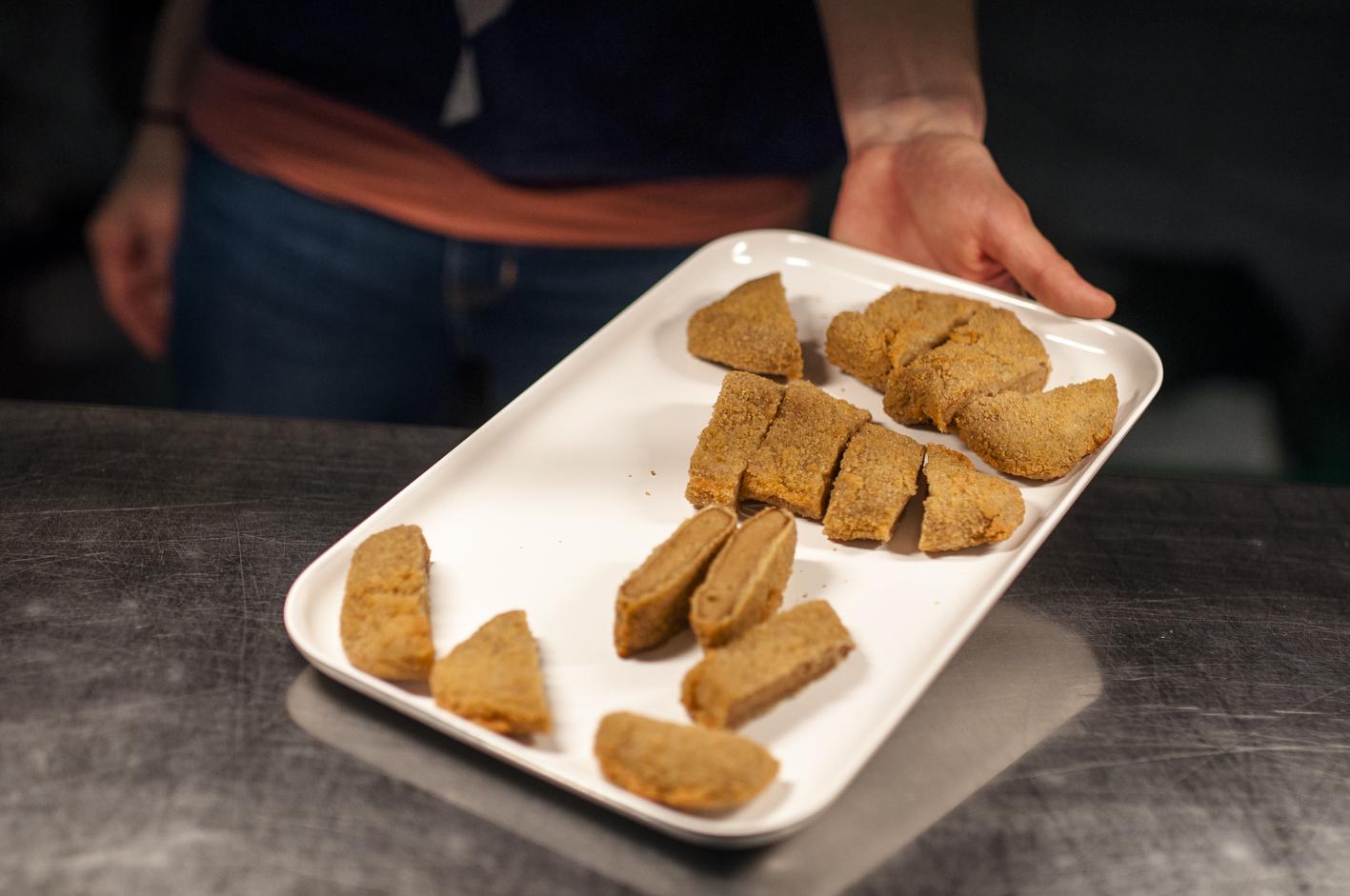 Fleischloses Bio-Fleisch, Wiener Schnitzel vegan,Tasting_forum 77, Bio 3.0, #biodreinull, Verkostung, vegan, vegetarisch, Fleischersatz
